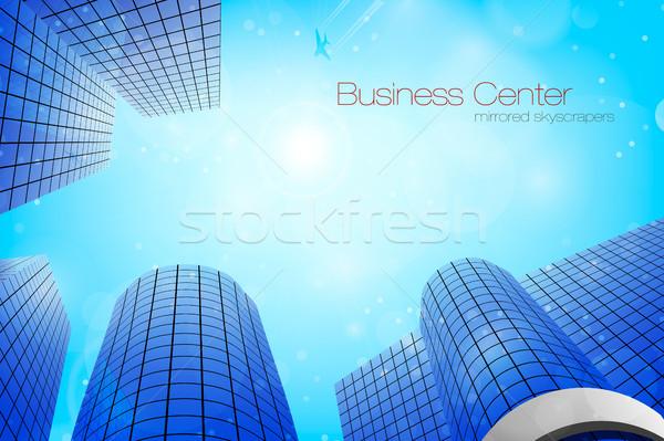 Stock photo: Business center. Vector illustration.