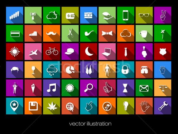 Vettore colorato icone ombre business computer Foto d'archivio © Panaceadoll