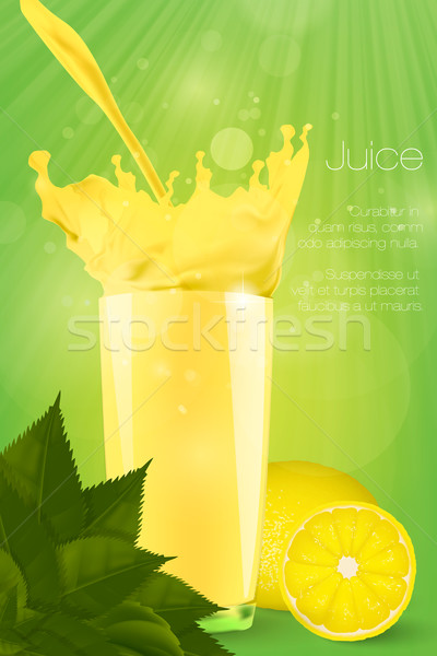 Vidro suco fruto verão laranja espaço Foto stock © Panaceadoll