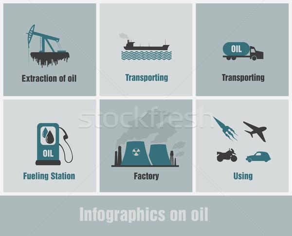 Infografiki zanieczyszczenia ludzi działalność samochodu drzewo Zdjęcia stock © Panaceadoll