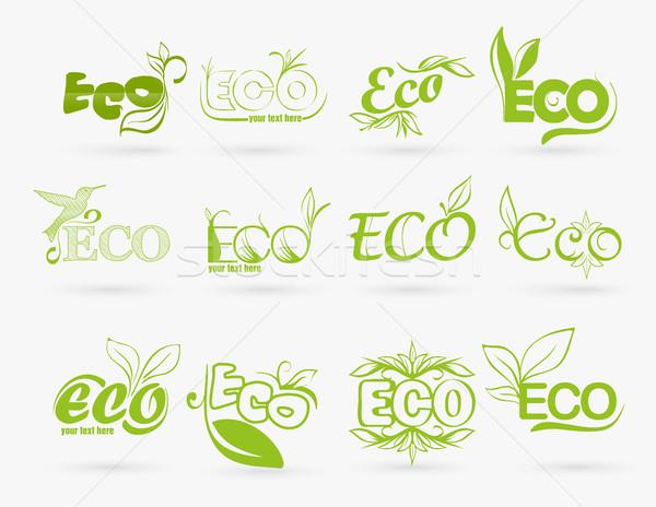 set of eco icons Stock photo © Panaceadoll