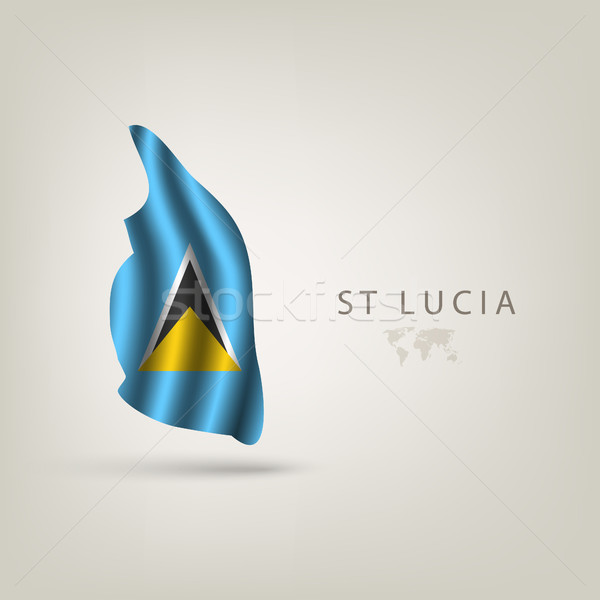 Stockfoto: Illustraties · wereld · vlaggen · reizen · vlag · afrika