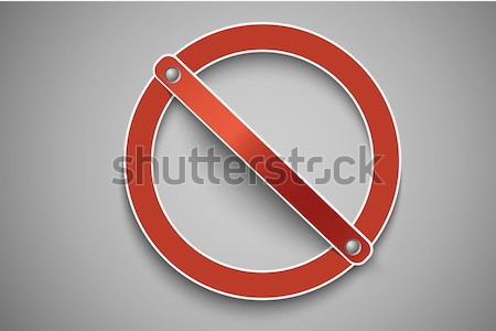 prohibition sign red Stock photo © Panaceadoll