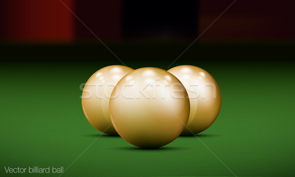 three realistic billiard balls on a pool table Stock photo © Panaceadoll