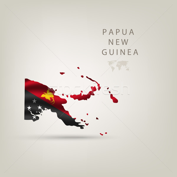 Illustrations of the world with flags and capitals Stock photo © Panaceadoll