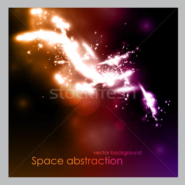 пространстве абстракция планеты земле океана веб Сток-фото © Panaceadoll