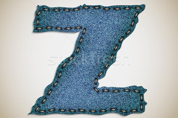 デニム 手紙 アルファベット テクスチャ ジーンズ ベクトル ストックフォト © Panaceadoll