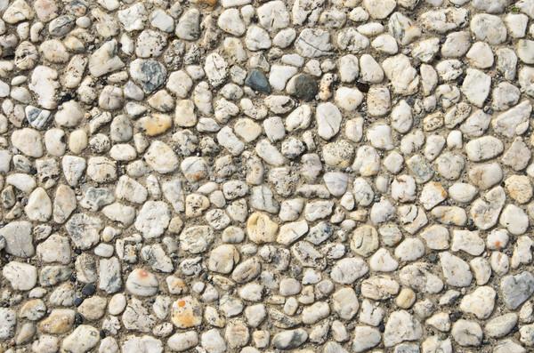 Blanche caillou quartz cailloux ciment texture Photo stock © pancaketom