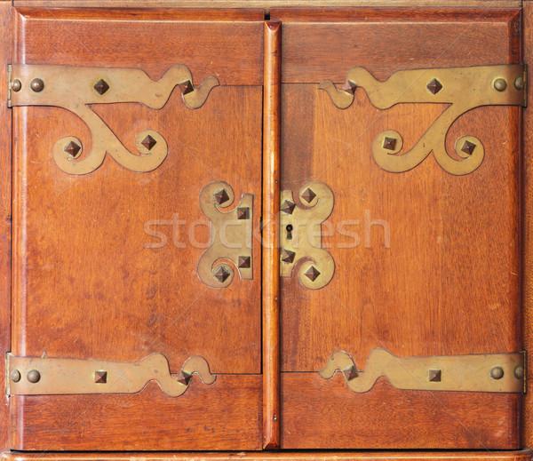 Antique Cabinet Doors Stock photo © pancaketom