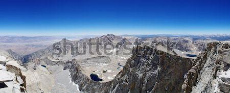 Dağ panorama Nevada dağlar orman Stok fotoğraf © pancaketom