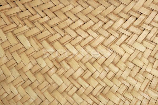 woven straw Stock photo © pancaketom