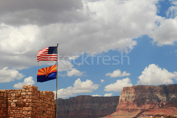 Arizona drapeaux volée marbre canyon visiteur Photo stock © pancaketom