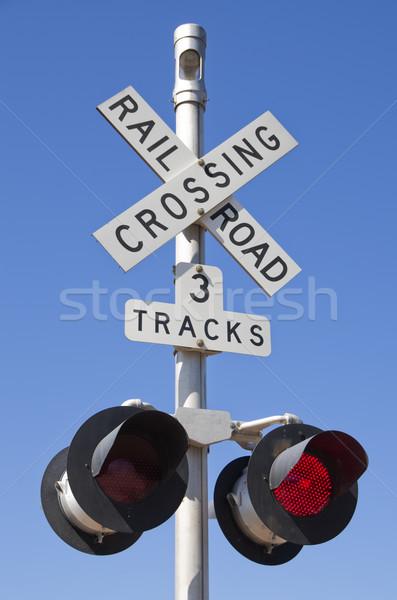 Railroad Crossing Sign Stock photo © pancaketom