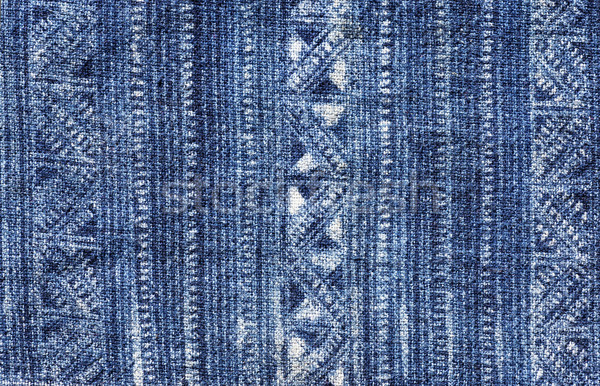 Blue Batik Cloth Pattern Stock photo © pancaketom