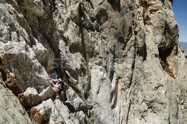 女性 登山 山 アップ 急 顔 ストックフォト © pancaketom