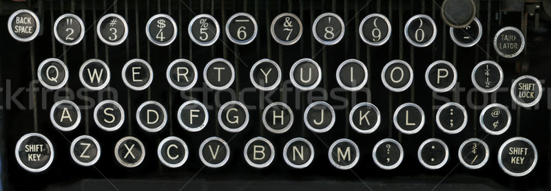 old typewriter keyboard Stock photo © pancaketom