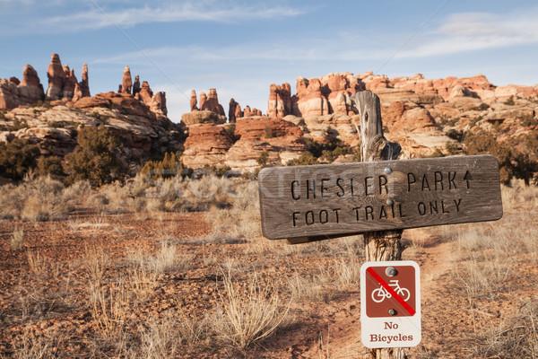 公園 にログイン ユタ州 自然 風景 砂漠 ストックフォト © pancaketom