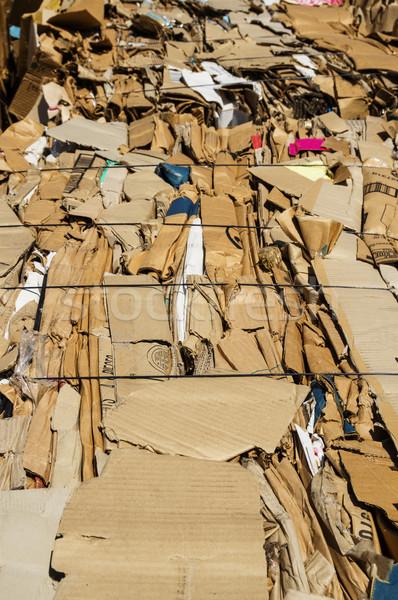 картона рециркуляции старые коробки зеленый карт Сток-фото © pancaketom