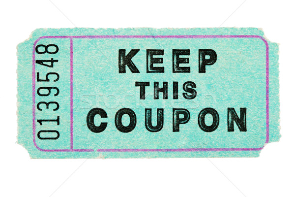 blue coupon ticket Stock photo © pancaketom