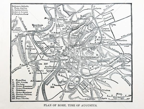map of ancient Rome Stock photo © pancaketom