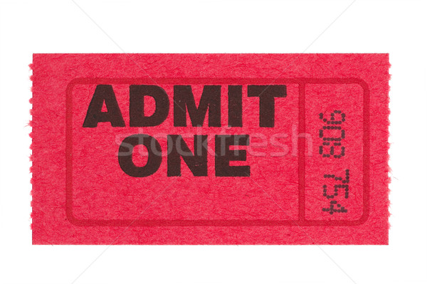 admit one red ticket Stock photo © pancaketom