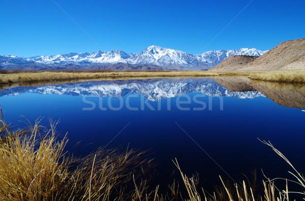 Sierra Mountain Reflection Stock photo © pancaketom