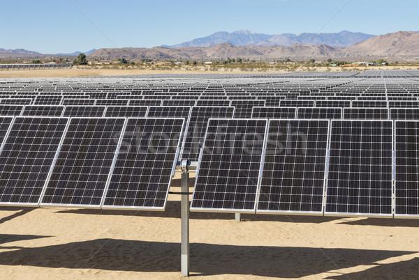 Stockfoto: Zonne · elektrische · energiecentrale · fotovoltaïsche · woestijn · Californië