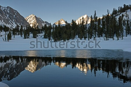 Mountains Reflected In Icy Pool Stock photo © pancaketom