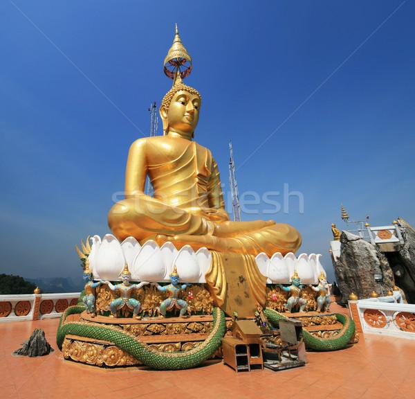 Altın Buda heykel kaplan mağara tapınak Stok fotoğraf © pancaketom