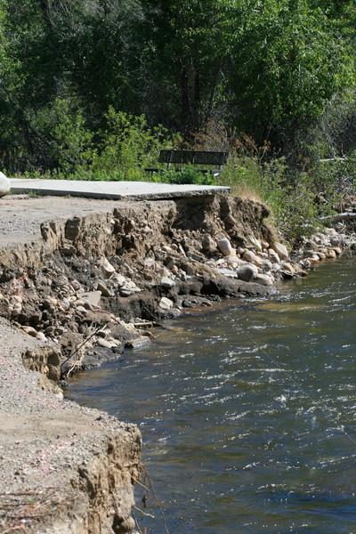 Inundação dano calçada longe Foto stock © pancaketom