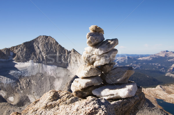 Quartz Summit Cairn Stock photo © pancaketom