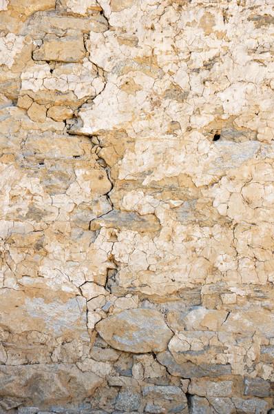 Starych pęknięty mur tekstury Zdjęcia stock © pancaketom