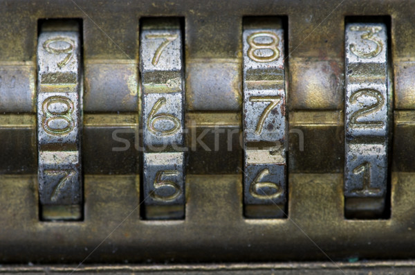 8672 on combination lock Stock photo © pancaketom