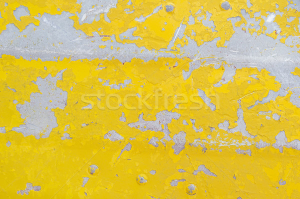 Flaking Yellow Paint Background Stock photo © pancaketom