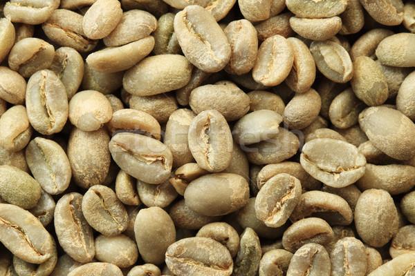 Groene koffiebonen ethiopiër organisch macro achtergrond Stockfoto © pancaketom