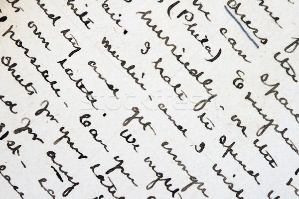 пер чернила Дать подробность старые письме Сток-фото © pancaketom