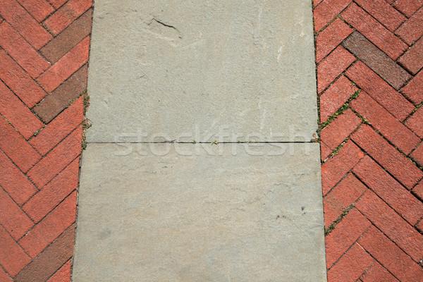brick and stone walkway Stock photo © pancaketom
