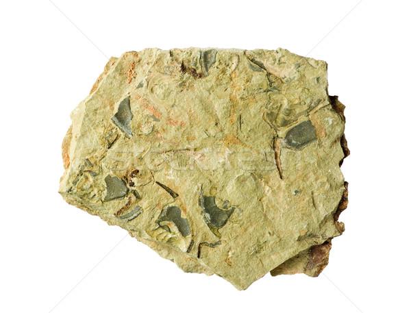 Rock aislado blanco naturaleza piedra roto Foto stock © pancaketom