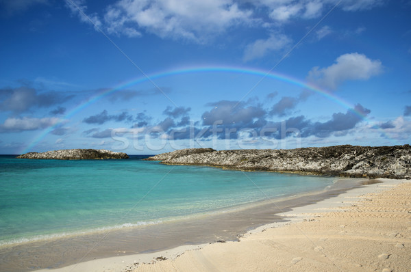 Bahamas Beach Rainbow Stock photo © pancaketom