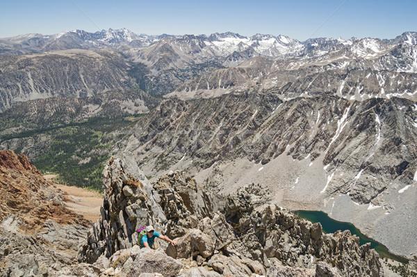 女性 山 登山 アップ ネバダ州 山 ストックフォト © pancaketom