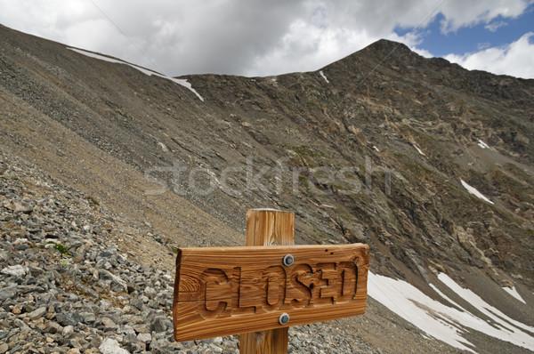 閉店 にログイン 山 木材 ピーク コロラド州 ストックフォト © pancaketom