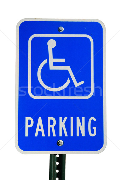 disabled parking sign Stock photo © pancaketom