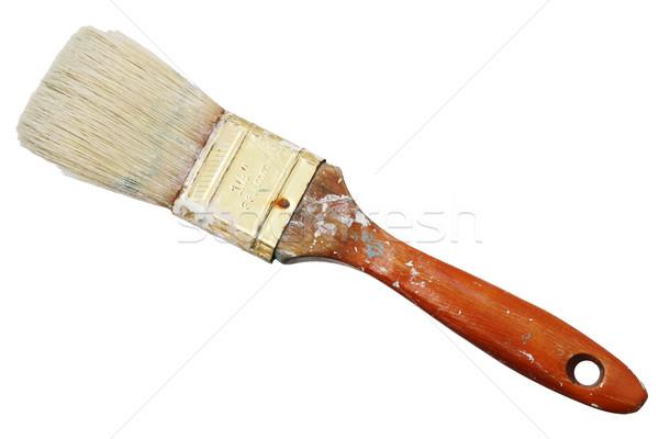 Izolált használt ecset egy fél hüvelyk Stock fotó © pancaketom
