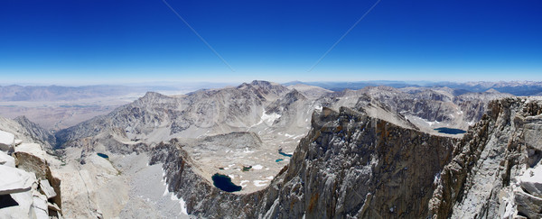 Mount Whitney Summit Panorama Stock photo © pancaketom
