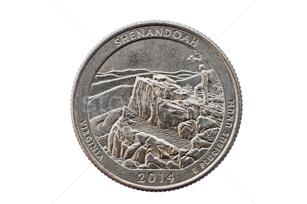 Shenandoah Quarter Coin Stock photo © pancaketom
