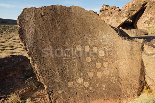 岩 芸術 インド ストックフォト © pancaketom