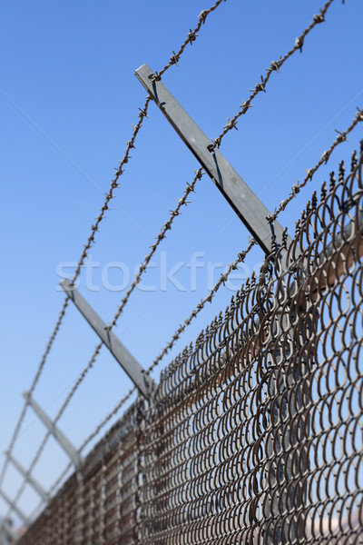 security fence Stock photo © pancaketom