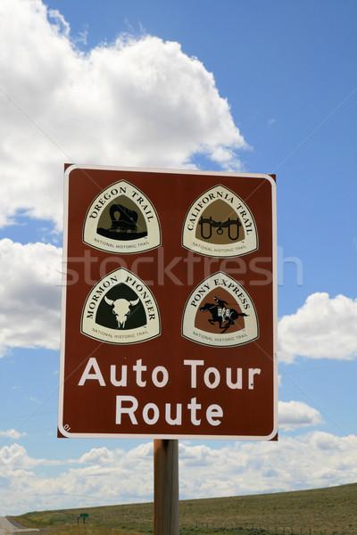Auto tour route teken Oregon parcours Stockfoto © pancaketom