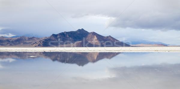 Bonneville Salt Flats reflection Stock photo © pancaketom