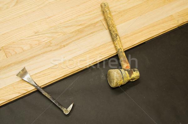 твердая древесина установка строительство инструменты Сток-фото © pancaketom
